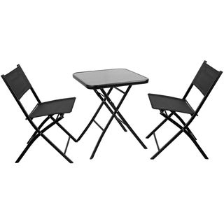 Square Glass Table with 2 Chairs