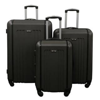 Kemyer Grey Lightweight 3-piece Hardside Spinner Luggage Set