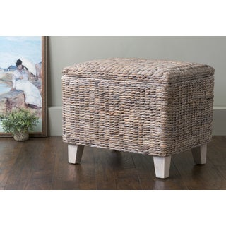 East At Main's Wingo Teakwood and Waterhyacinth Storage Ottoman