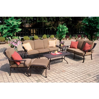 Darlee Ten Star Cast Aluminum 7-piece Deep Seating Set
