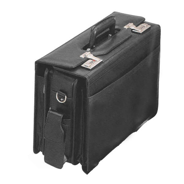 GOOD HOPE BAGS Black Leather Computer Catalogue Case (Bla...