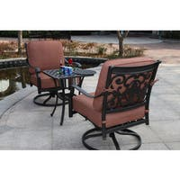 Darlee St. Cruz Cast Aluminum 3-piece Cushioned Conversation Set