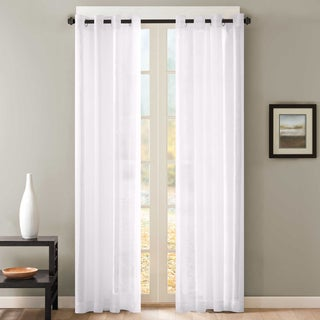 Sheer Window Curtain Grommet Curtain Panel Pair