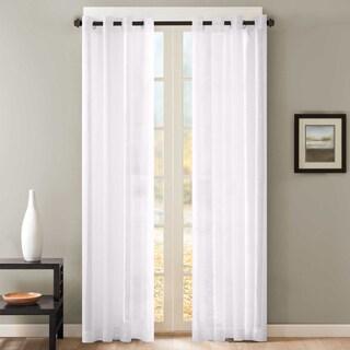 Sheer Window Curtain Grommet Curtain Panel Pair (Option: Gold)