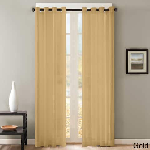 Sheer Window Curtain Grommet Curtain Panel Pair