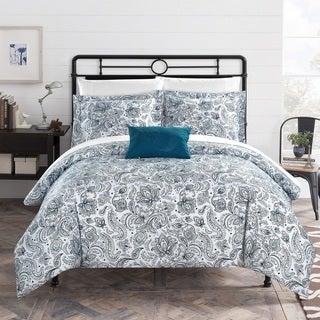 Chic Home 4-Piece Newark Park Blue Duvet Cover Set