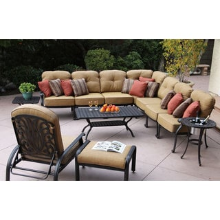 Darlee Elizabeth Cast Aluminum 12-Piece Deep Seating Sectional Group