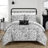 Chic Home 4-Piece Newark Park Black Duvet Cover Set
