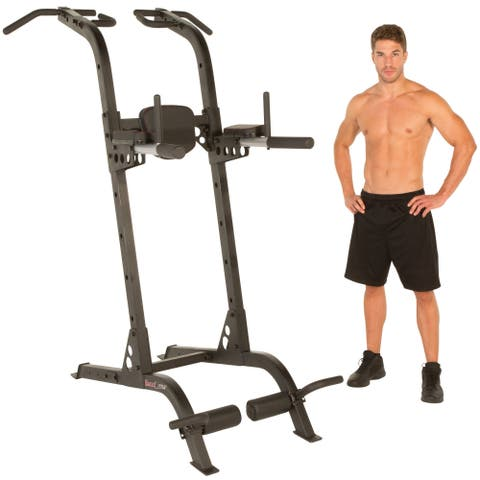 """FITNESS REALITY X-Class High Capacity Multi-Function Power Tower - grey - 34""""l x 49""""w x 83""""h"""