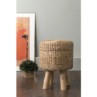 East At Main's Niota Brown Round Rattan Stool