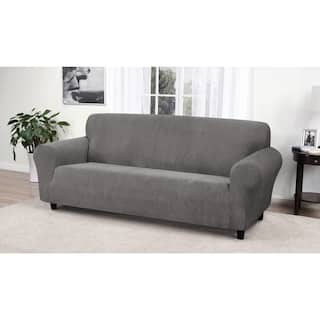 grey sofa couch slipcovers for less. Black Bedroom Furniture Sets. Home Design Ideas