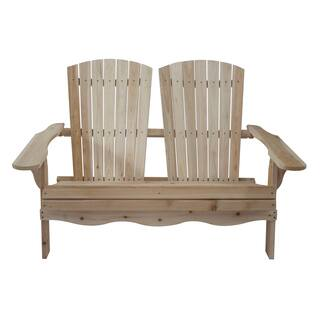Natural Wood Folding Double Adirondack Bench|https://ak1.ostkcdn.com/images/products/14046750/P20662746.jpg?impolicy=medium