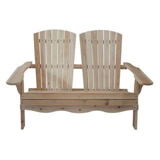 Clearance. Natural Wood Folding Double Adirondack Bench