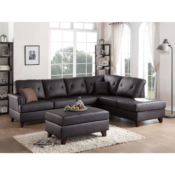 Shop Brown Somerset 2-piece Sectional Sofa Set W/Ottoman