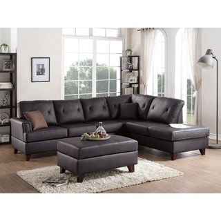 Brown Somerset 2-piece Sectional Sofa Set W/Ottoman