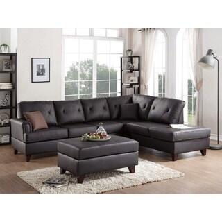 Brown Somerset 2-piece Sectional Sofa Set W/Ottoman
