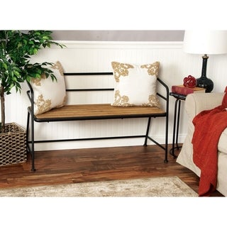 Benzara Metal/Wood 28-inch H x 45-inch W Bench