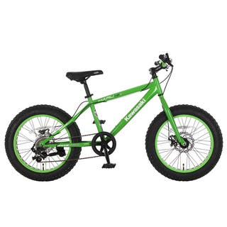 Kawasaki Haru Green 20x4-inch Wheel Fat Tire Bike|https://ak1.ostkcdn.com/images/products/14046757/P20662765.jpg?impolicy=medium