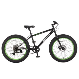 Kawasaki Shogun Black 24x4-inch Wheels Fat-tire Bike