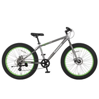 Kawasaki Sumo Grey and Green Steel 26-inch x 4-inch Wheels Fat Tire Bike