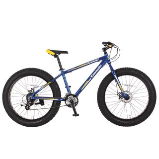 Kawasaki Mihari Blue/Yellow Aluminum Fat Tire Bike (26 in.)