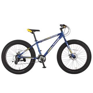 Kawasaki Mihari Blue/Yellow Aluminum Fat Tire Bike (26 in.) https://ak1.ostkcdn.com/images/products/14046769/P20662764.jpg?_ostk_perf_=percv&impolicy=medium