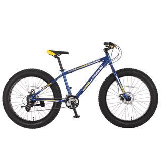 Kawasaki Mihari Blue/Yellow Aluminum Fat Tire Bike (26 in.)|https://ak1.ostkcdn.com/images/products/14046769/P20662764.jpg?impolicy=medium