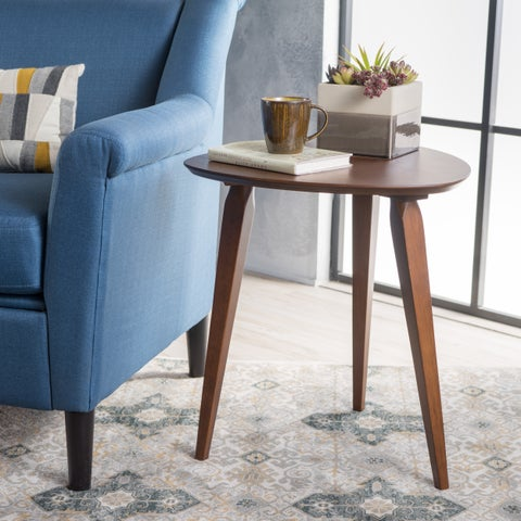 Hoyt Guitar Pick Mid-Century Wood End Table by Christopher Knight Home