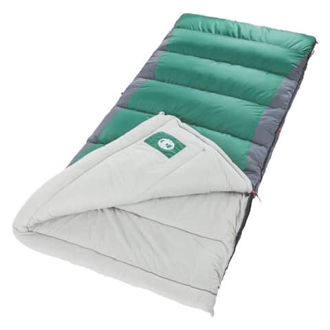 Coleman 'Autumn Glen' 40 Big n' Tall Sleeping Bag - Green/Grey