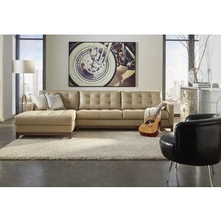 Lazzaro Leather Clayton Taupe RSF (Right Side Facing) Sofa