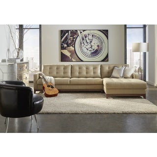 Lazzaro Leather Clayton Taupe LSF (Left Side Facing) Sofa