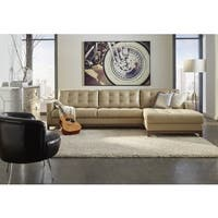 Dobson Black Leather Modern Sectional Sofa Free Shipping