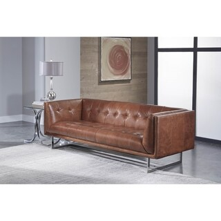 Lazzaro Leather Teague Cognac Loveseat & A Half