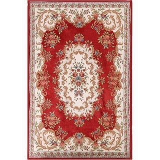 Cross Woven WILLIAM Classic Polyester& Cotton Area Rug (7' x 9')