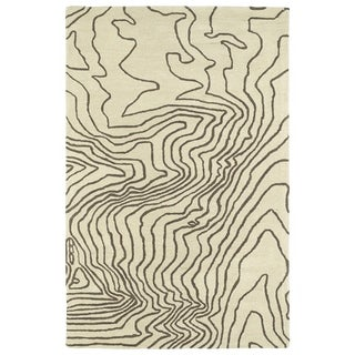 Hand-Tufted Artworks Brown Waves Rug (9'0 x 12'0)
