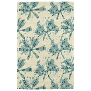 Hand-Tufted Artworks Turquoise Watercolor Rug - 3' x 5'