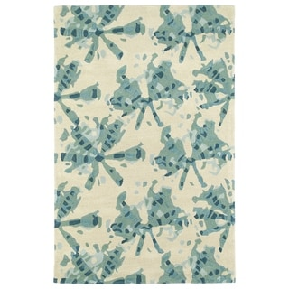 Hand-Tufted Artworks Turquoise Watercolor Rug (8'0 x 10'0) - 8' x 10'