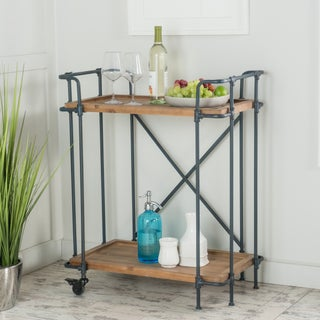 Eden Antique Firwood and Iron Bar Cart by Christopher Knight Home