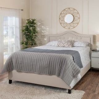 Link to Dante Upholstered Tufted Fabric Queen Bed Set by Christopher Knight Home Similar Items in Bedroom Furniture