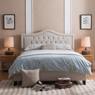 Dante Upholstered Tufted Fabric Queen Bed Set by Christopher Knight Home|https://ak1.ostkcdn.com/images/products/14047251/P20663130.jpg?impolicy=medium