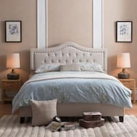 Dante Upholstered Tufted Fabric Queen Bed Set by Christopher Knight Home