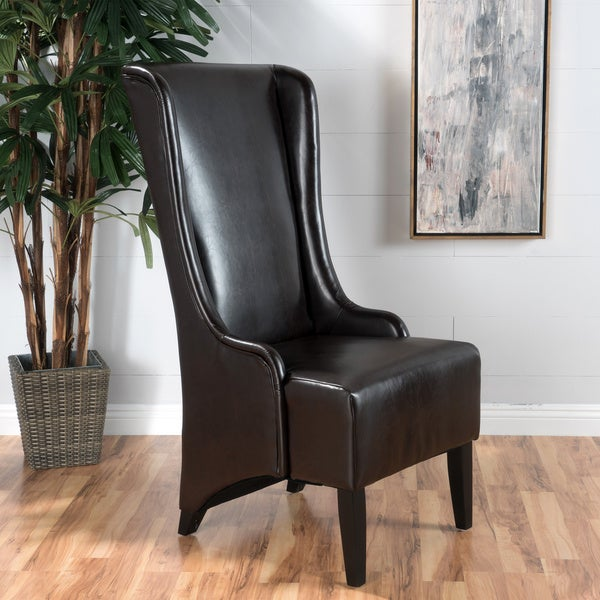 Shop Hermie High Back Bonded Leather Dining Chair By