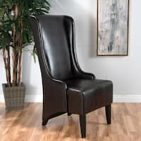 Hermie High-Back Bonded Leather Dining Chair by Christopher Knight Home