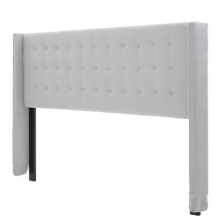 Link to Kendrah Adjustable King/ California King Wing Back Studded Fabric Headboard by Christopher Knight Home Similar Items in Bedroom Furniture