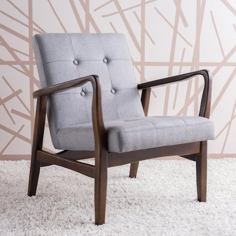 Brayden Mid-Century Fabric Club Chair by Christopher Knight Home