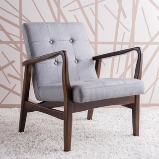 Link to Brayden Mid-Century Fabric Club Chair by Christopher Knight Home Similar Items in Living Room Chairs