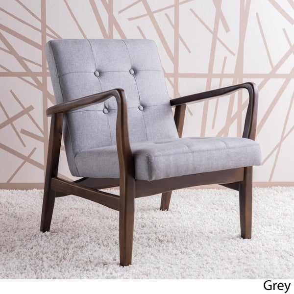 Superieur Brayden Mid Century Fabric Club Chair By Christopher Knight Home
