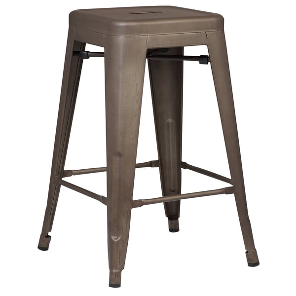 Shop Poly And Bark Trattoria 24 Inch Counter Stool In Bronze Set Of
