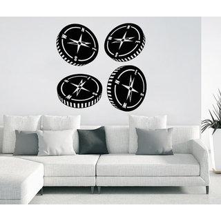 Compass Rose Nautical Decor Compass Navigate Ship Ocean Sea Sticker Decall size 44x44 Color Black