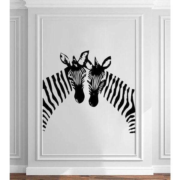 shop zebra wall decals animals jungle safari african vinyl decal